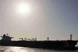 Mesmerizing sight of a mighty merchant ship ..