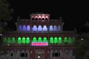 The beautiful Narayani Dham temple...