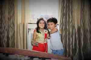 The shoot at Wadala. :) Ayaan with his cousin, Vanya, in Mumbai. :)